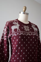 Load image into Gallery viewer, vintage 1940s reindeer sweater