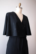 Load image into Gallery viewer, vintage 1930s black rayon dress