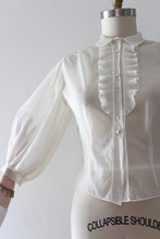 Load image into Gallery viewer, vintage 1950s sheer blouse