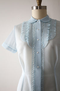 vintage 1950s sheer blouse