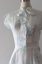 Load image into Gallery viewer, vintage 1940s sheer floral dress