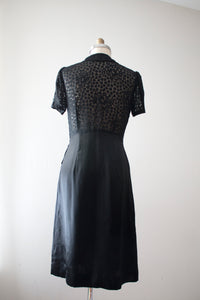vintage 1930s black hearts dress