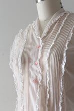 Load image into Gallery viewer, vintage 1950s pink sheer blouse