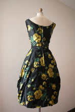 Load image into Gallery viewer, RARE vintage 1960s silk bubble hem floral dress