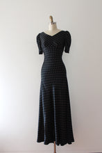 Load image into Gallery viewer, vintage 1930s silk polka dot gown