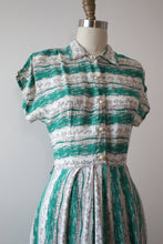 Load image into Gallery viewer, vintage 1940s striped dress