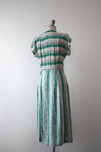 vintage 1940s striped dress