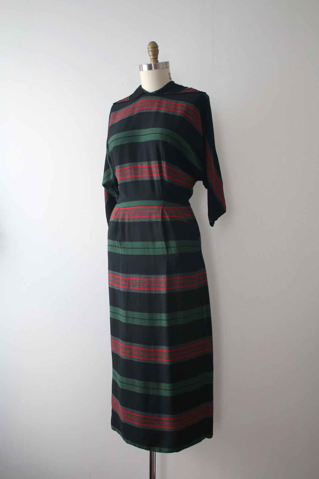 vintage 1950s striped dress