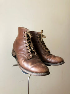 vintage 1940s brown leather boots