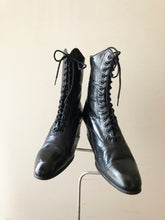 Load image into Gallery viewer, Antique Edwardian black leather boots