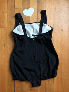 vintage 1950s black swimsuit