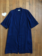 Load image into Gallery viewer, vintage 1940s navy blue swing coat