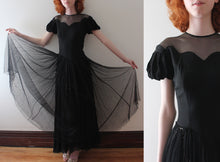 Load image into Gallery viewer, vintage 1940s black stars gown