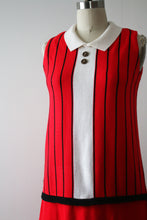 Load image into Gallery viewer, vintage 1960s knit Trompe L'Oeil dress