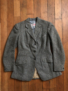 vintage 1940s tweed houndstooth Pytchley jacket