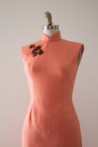 vintage 1960s wool Cheongsam dress