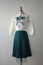 Load image into Gallery viewer, vintage 1940s plaid wool skirt