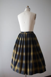 vintage 1950s plaid wool skirt