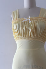Load image into Gallery viewer, vintage 1940s deadstock yellow slip
