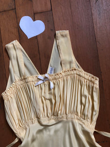 vintage 1940s deadstock yellow slip