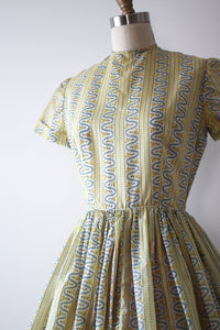 vintage 1950s yellow dress