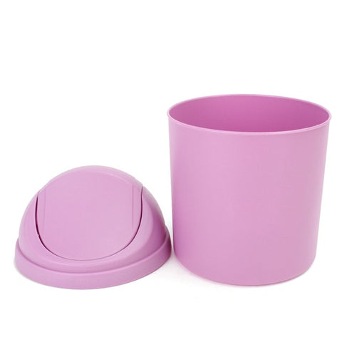 Kicute Mini Waste Bin Design Desktop Pen Holder Plastic Pen