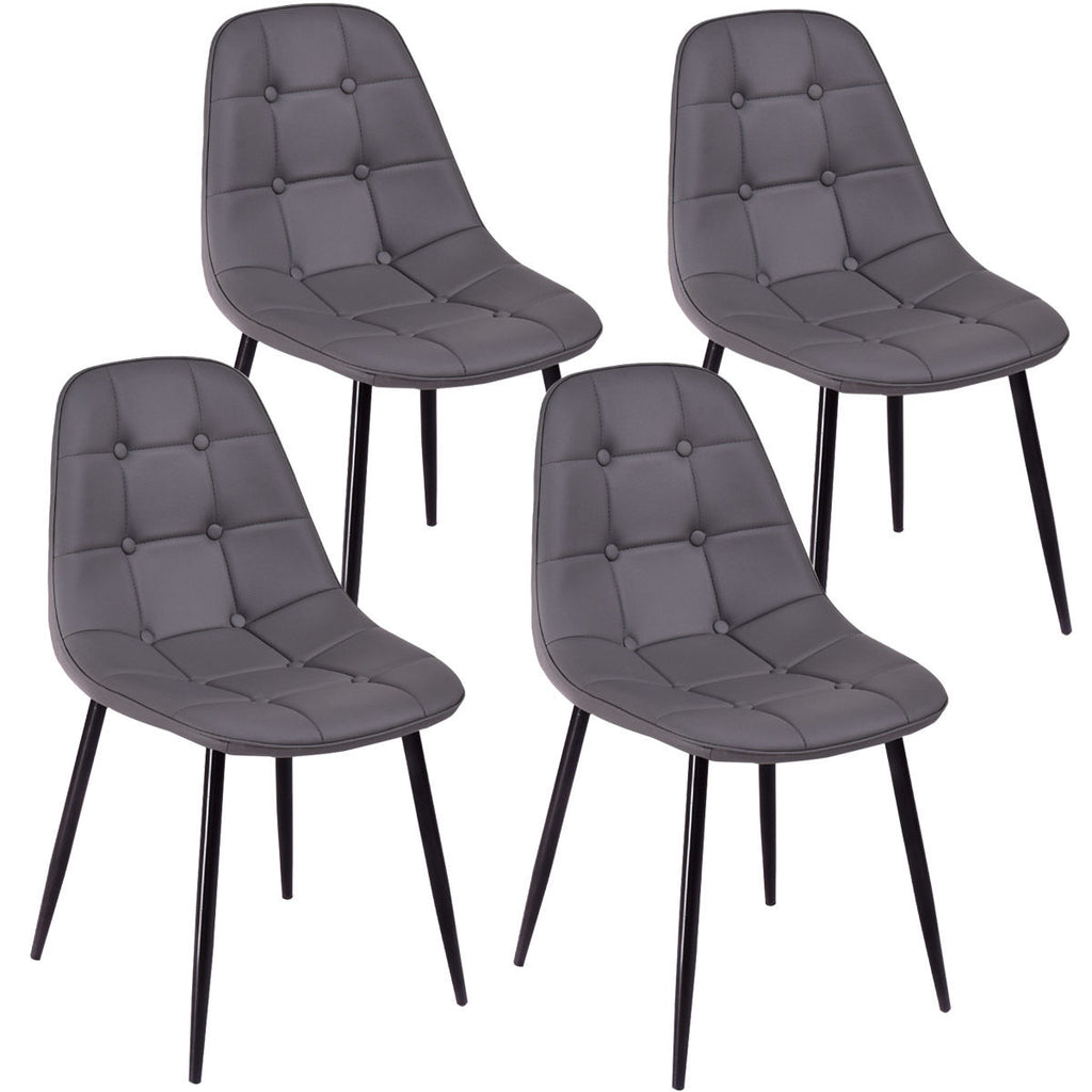 Enjoyable Giantex 4Pcs Modern Dining Chair Pu Leather Armless Metel Gmtry Best Dining Table And Chair Ideas Images Gmtryco