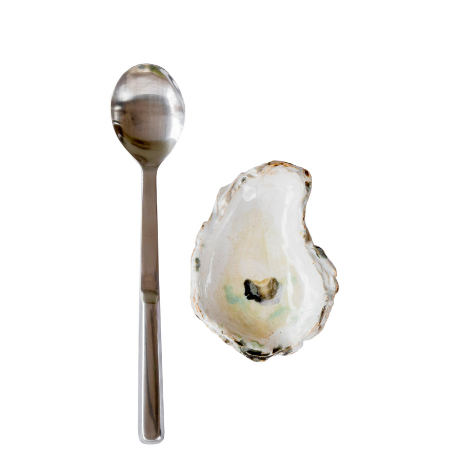 MULTI-USE SHELL SPOON REST & GRILLING SPOON