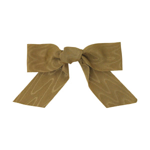 Camel Moire Bow | Camel