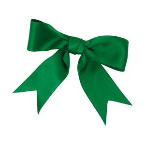 Emerald Vintage Silk Satin Bow | Emerald