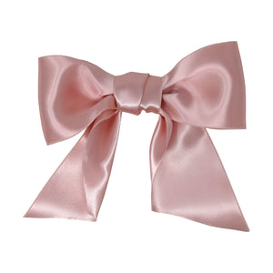 Rose Vintage Wide Silk Satin Bow | Rose