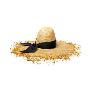 Ete Raffia Hat | Natural & Black