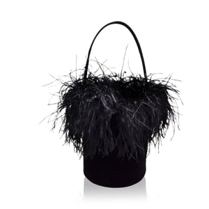Marie Feather Bag | Black