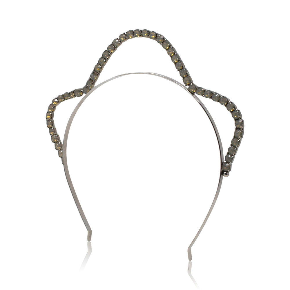 Josephine Tiara | Silver and Opal
