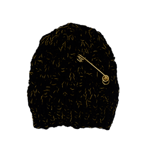 Anja Beanie | Black x Gold | Exclusive