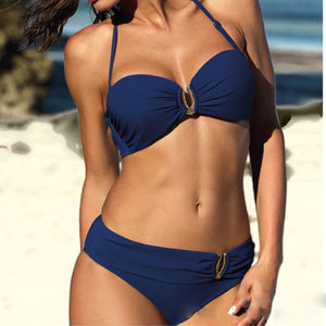 Maillot de Bain Sans Bretelle Push Up