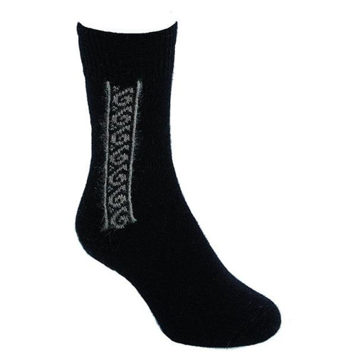 Black/Natural Koru Sock