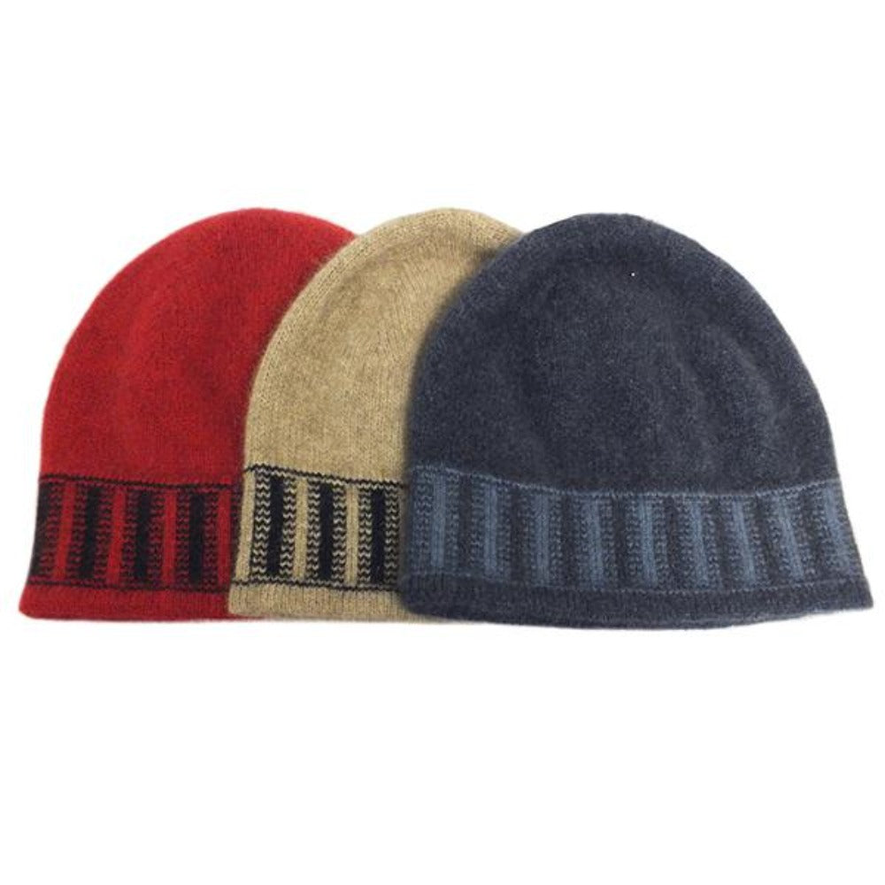 Child's Stripe Trim Beanie