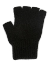 Load image into Gallery viewer, Black Open Finger Glove