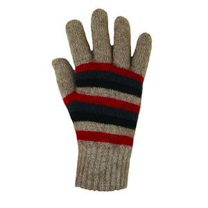 Natural Multi Striped Glove