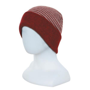 Berry reversed Double Layer Beanie - Reversible