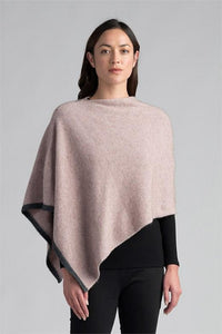 Possum and Merino  This multi-tasking wrap can be worn three different ways to create very different looks.  Contrast colour tipping adds a touch of designer detail to this easy throw-on piece.  One Size