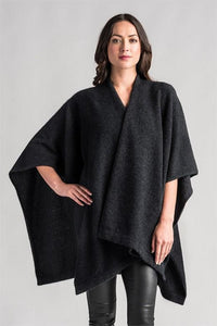 Possum and Merino  This multi-tasking piece is perfect to wrap up in when cold weather hits.  Dress it down with jeans or up for a night out when an extra layer over tops or dresses is called for.  When travelling this easy throw on piece delivers effortless style, and doubles as a luxurious blanket.  One Size