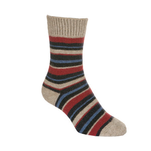 Flax Striped Sock