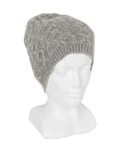 Silver Opito Cable Beanie