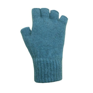 Teal Open Finger Glove