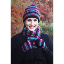 Load image into Gallery viewer, Jewel Multi Striped Beanie