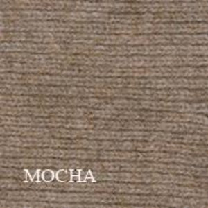 Mocha ribbed throw