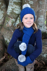Girls Possum Merino Cottontail Scarf