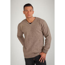 Load image into Gallery viewer, Mocha V Neck Jumper